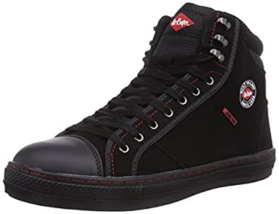 Lee Cooper Workwear Lcshoe022, Chaussures de sécurité Adulte Mixte - Noir (black), 36 EU