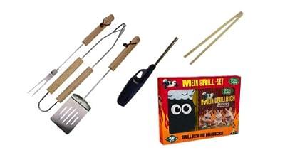 Grillset 7 teilig Gabel Greifer Wender Wurstklammer Gasfeuerzeug Grillhandschuh und Shaun das Schaf - Meine allerliebsten Rezepte: Best of Shaun