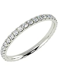 0.50Ct Round Diamond Micro Pave Set Full Eternity Ring in White Gold