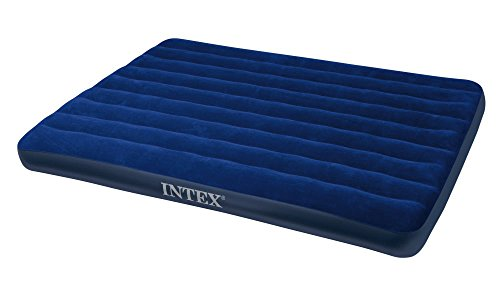 Intex Luftbett Classic Downy Blue Queen, Blau, 152 x 203 x 22 cm