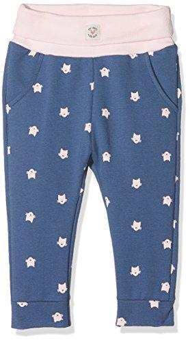 Sanetta Baby-Mädchen Jogginghose 114206, Blau (Faded Denim 50213), 74