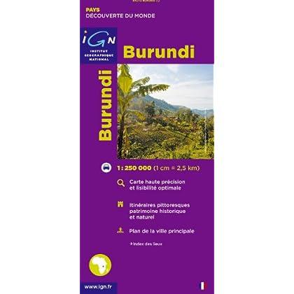 Carte routière : Burundi