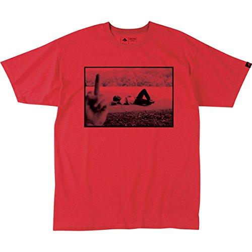 Emerica Leo Middle Finger T-Shirt - Short-Sleeve - Mens Red