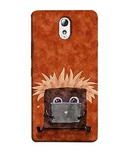 PrintVisa Designer Back Case Cover for Lenovo Vibe P1M :: Vibe P1m (Cartoon Sit Book Love Symbols Fly Texture Oil Painting)