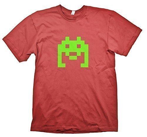 Space Invader T-Shirt inspiriert von The Big Bang Theory Rot