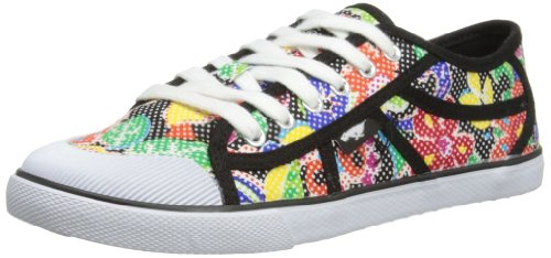 Rocket Dog Amaya Damen Sneaker Schwarz - Noir (Sugar Flower Black)