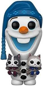 Multi Funko 21573 Olaf with Kittens Olafs Frozen Adventure S1 Cats POP Vinylfigur