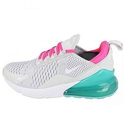 Nike Damen Air Max 270 Leichtathletikschuhe, Mehrfarbig (Pure Platinum/White/Pink Blast 065), 37.5 EU