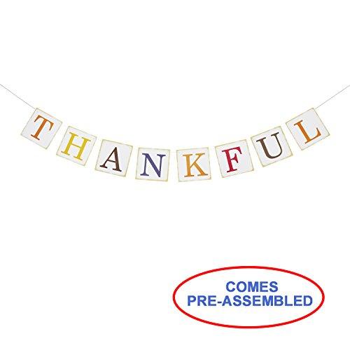 Partyprops Thanksgiving Decor-Dankbar Banner Sign-Fall Home Decor Dekorationen, Thanksgiving Dekorationen-Thanksgiving Banner