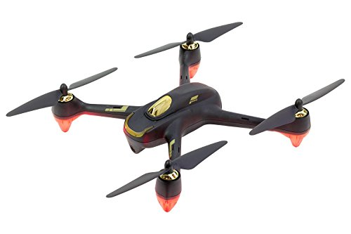 Hubsan 15030000 – Quadrocopter, Drohne Hubsan X4 FPV Brushless Quadrocopter Schwarz – RTF-Drohne mit HD-Kamera, GPS, Follow-Me, Akku, Ladegerät und Fernsteuerung mit integriertem Farb-Monitor (H501S)