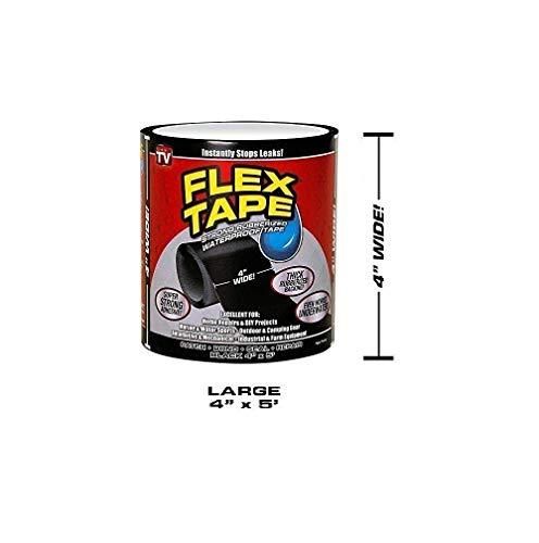 DIECH Flex Tape Pro, Silikon, wasserdichtes Dichtungsband, flexibles Butyl-Klebeband, Allwetter-Klebeband, Reparaturband für Patch- und Abschirmung, selbstheilendes Klebeband