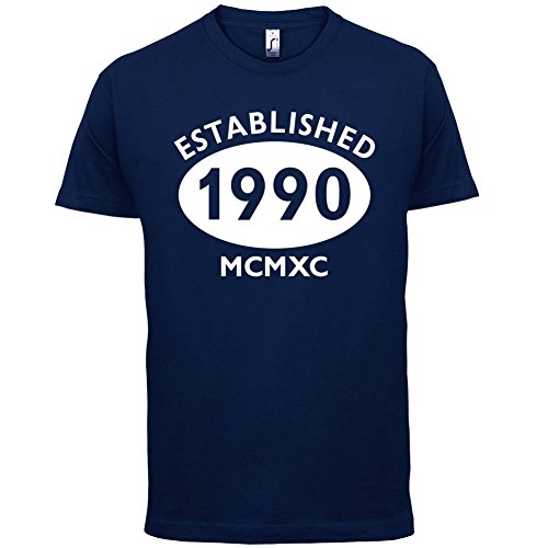 Gegründet 1990 Römische Ziffern - 27 Geburtstag - Herren T-Shirt - 13 Farben Navy