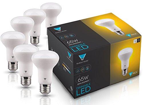 45w Flut (Triangle Leuchtmittel t95059–6(6Pack)–9Watt (65-watt) R20Innen Flood LED Leuchtmittel, Soft weiß (3000K), 700Lumen, dimmbar, 6er Pack)