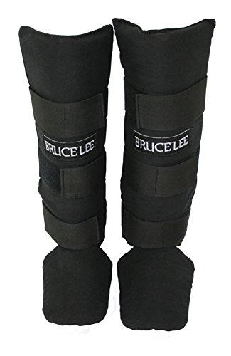 Bruce Lee Schienbeinschützer Allround, rot schwarz, S/M, 14BLSBO082 -