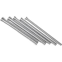 Lot de 5 kits de cintreuse à ressort en fil d'acier, kit de ressorts de courbure pour tuyau de plomberie, ressort de cintre, 1/4''''''''''', 5/16''''', 3/8''''', 1/2''''', 5/8''''', argent