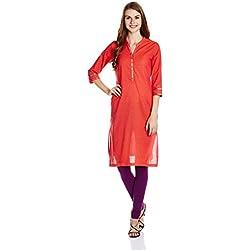 Rangriti Women's Straight Kurta (RMMTANA BAN2514_Pink_34)