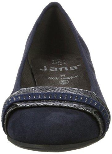 Jana Damen 22100 Geschlossene Ballerinas Blau (Navy)