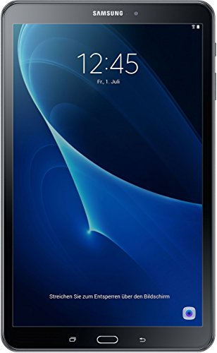 Samsung Galaxy Tab A SM-T580 25,54 cm (10,1 Zoll) Tablet-PC (1,6 GHz Octa-Core, 2GB RAM, 32GB eMMC, WiFi, Android 6.0) schwarz