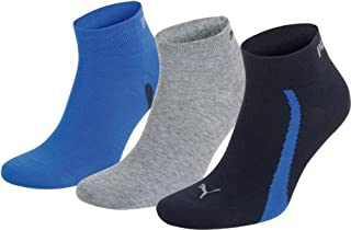 Puma Lifestyle - Chaussettes de Sport - Lot de 3 - Graphique - Mixte Adulte - Homme - Multicolore (Marine/Gris/Bleu) - 43-46 EU (B003WIZEBC) | Amazon Products