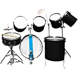 AMBITION Professional Black Drum Kit - 9 Pcs