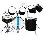 AMBITION Professional Black Drum Kit - 9 Pcs