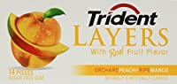 Trident Layers Gum Orchard Peach / Ripe Mango 12/14 Pcs
