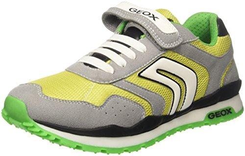 Geox j pavel b, sneaker bambino, grigio (grey/lime), 32 eu