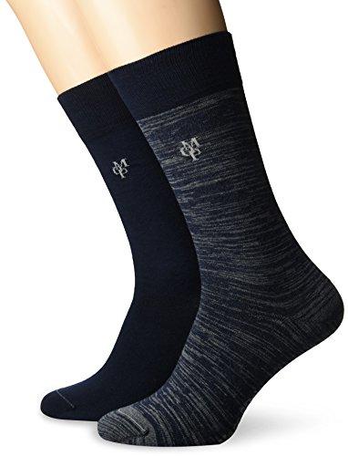 JONTE  Legwear M-Socks 2-pack Herren socken, navy, 43/46 (Herstellergröße: 406), 155624