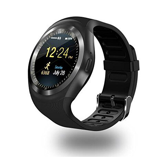 Micromax Joy X1800 COMPATIBLE Bluetooth Y1 Smartwatch with SIM Card Support | Android 5.1 OS | Facebook | Whatsapp | Activity Tracker | Fitness Band | Music | Micro SD card Support COMPATIBLE with ZTE Sonata BY MOBIMINT  available at amazon for Rs.2399