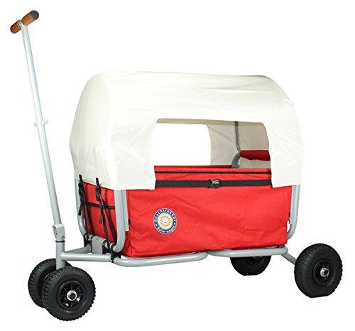 Preisvergleich Produktbild Verdeck (nur faltbares Dach - nicht der Bollerwagen), Farbe beige, für den faltbaren Bollerwagen Beachtrekker LiFe