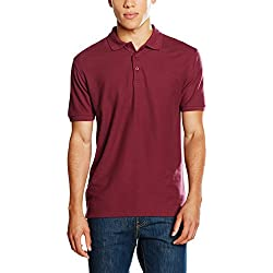 Fruit of the Loom 63-218-0, Polo para Hombre, Rojo (Burgundy), M