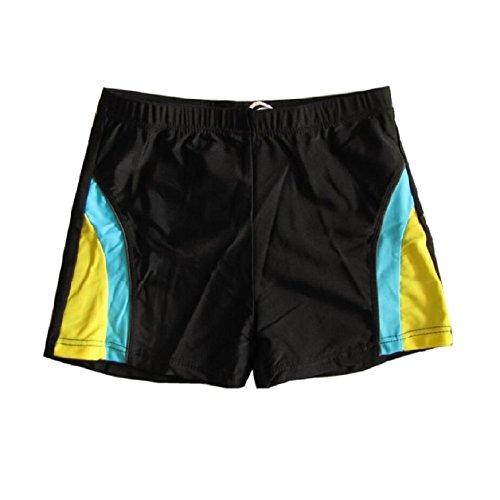LJ&L Jungen Teenager Schwimmen Hosen, Outdoor Strand Hosen Freizeit, weich und zuverlässig Atmungsaktive Elastische Shorts Schwimmen, Wassersport C