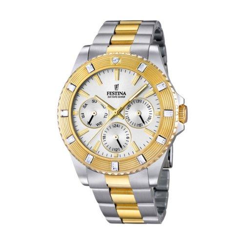 Festina orologio da polso TREND analogico al quarzo unisex in acciaio inox rivestito f16696/1