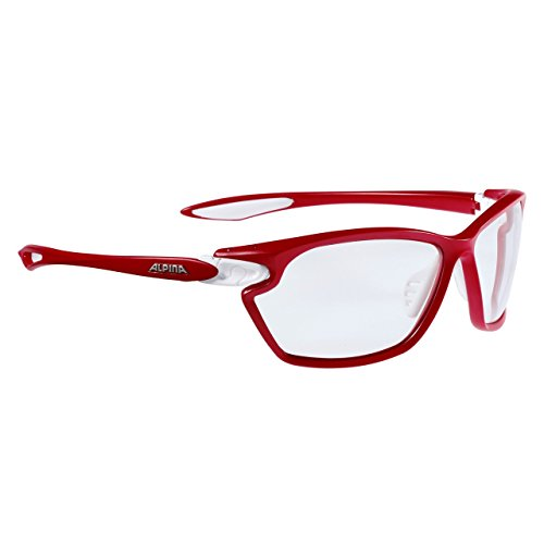 Alpina Sonnenbrille Performance TWIST FOUR 2.0 VL+ red matt-White, One Size