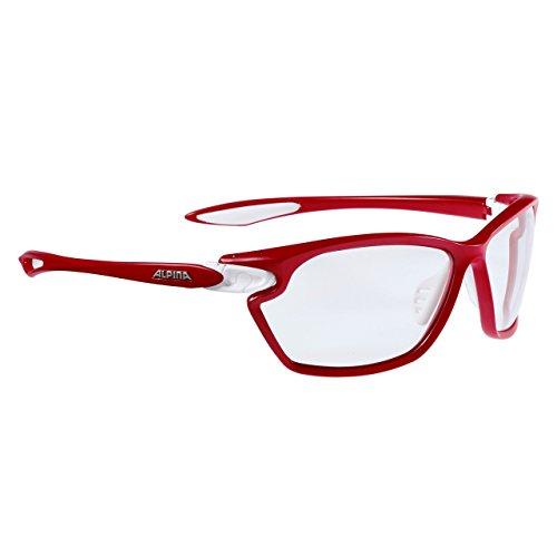 Alpina Sonnenbrille Performance TWIST FOUR 2.0 VL+ red matt-White, One Size