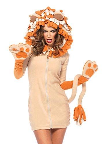 Leg Avenue 85501 - Cozy Lion Kostüm, Größe Large (EUR - Für Erwachsene Sexy Löwen Kostüm