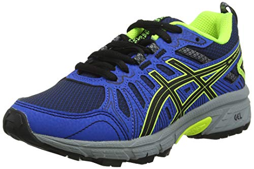 Asics Venture 7 GS, Zapatillas de Running Unisex Niños, Negro Black/Safety Yellow 001, 39 EU
