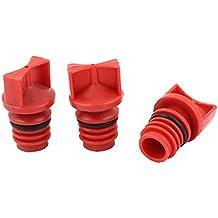 sourcingmap® Tapones de aceite del compresor de aire con carcasa de plástico de 18mm de