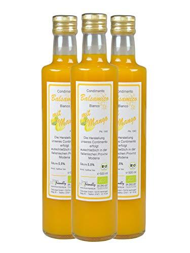 direct&friendly Bio Mango Essig, Condimento Balsamico mit fruchtiger Mango