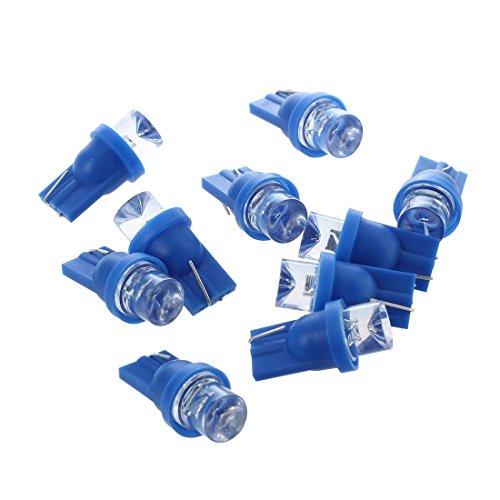 SODIAL(R) 10x W5W ampoule veilleuse led 158 168 194 T10 2825 Bleu XENON plafonnier effet