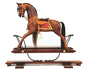Cheval à bascule en bois de châtaignier modèle géant