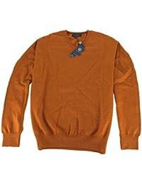 Viyella Plain Gold V Neck Merino Wool Jumper