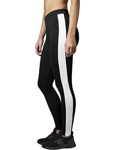 Urban Classics Damen Ladies Retro Leggings Mehrfarbig (blk/wht 50)