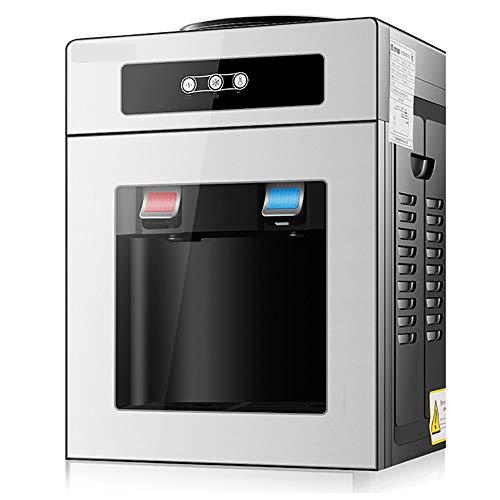 Wasserspender Ice Hot Desktop-KüHlung Hot Home Schlafsaal Mini Kleine Energiesparglas Ice Warmwassermaschine,Silver-Normal-Temperature+hot-Water - Hot Filter Wasserspender