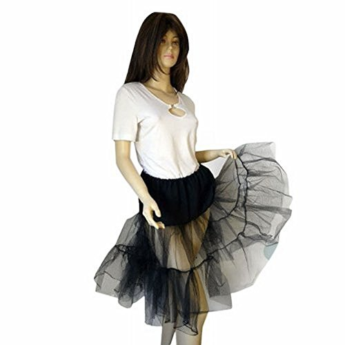Petticoats für Tellerrock Tellerröcke Tanzkleid schwarz Gr. 34 - 40 P02 (Gruppe Kostüme Idee)