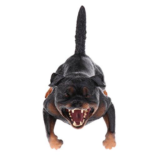 Sharplace Lebensechte Tier Zootiere Wildtiere Modell Spielzeugfigur Kinder Lernspielzeug - Rottweiler - # A