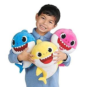 Baby Shark Muñeca de Peluche con Sonido de tiburón para bebé, Surtido, Variedad de Estilos - escogida al Azar