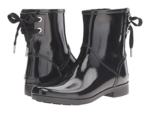 Michael Kors Womens Larson Round Toe Mid-Calf Rainboots, Black, Size 7.0 US
