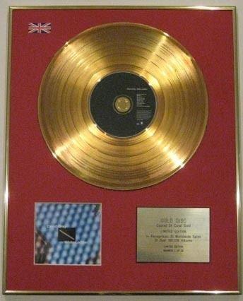 Leiter Gerahmt (Century Music Awards David Grey CD 24 Karat Goldscheibe, weiße Leiter)