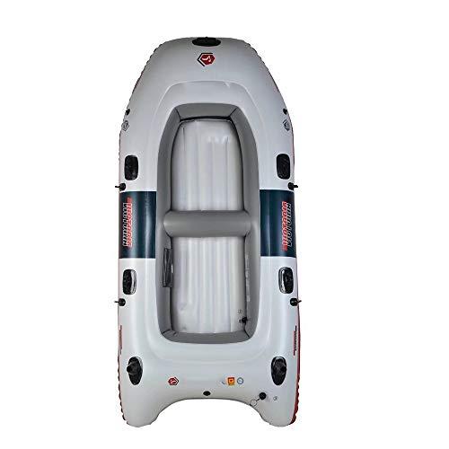 LIPAI Kajak-Schlauchboot Dickes Abriebfestes Fischerboot Schnelles Reise-Kanu, 4 Personen